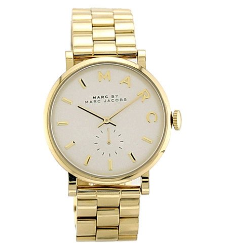 MARC JACOBS MBM3243 Baker gold-toned stainless steel watch (White