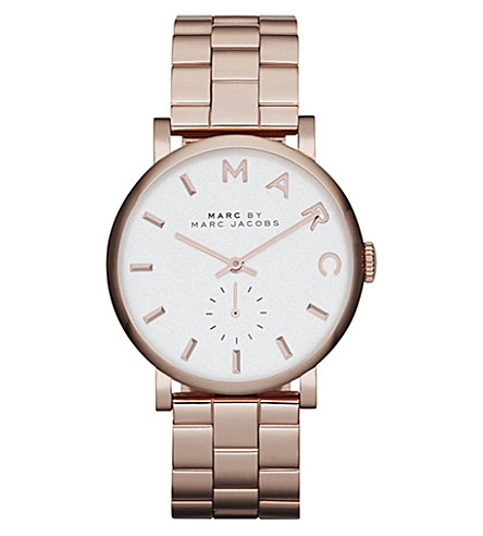 MARC BY MARC JACOBS MBM3244 Baker rose-gold stainless steel watch (White