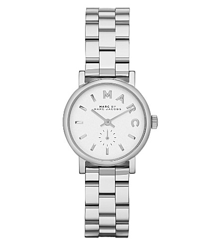 MARC JACOBS MBM3246 Baker mini stainless steel watch 2.8cm (White