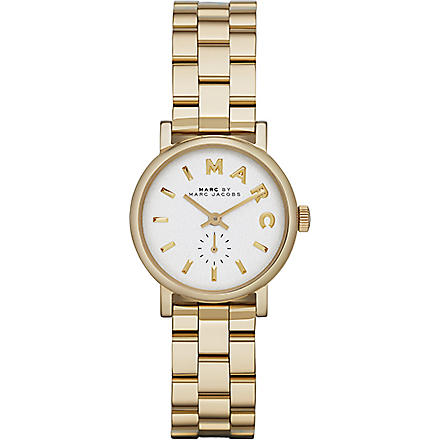 MARC BY MARC JACOBS MBM3247 Baker mini gold-toned stainless steel watch 2.8cm (White