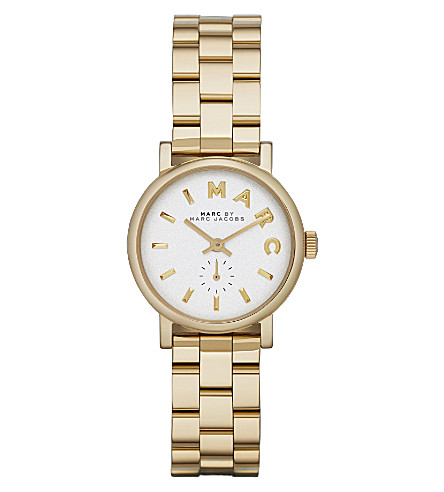 MARC JACOBS MBM3247 Baker mini gold-toned stainless steel watch 2.8cm (White