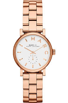MARC BY MARC JACOBS MBM3248 Baker Mini rose gold-toned stainless steel watch 2.8cm