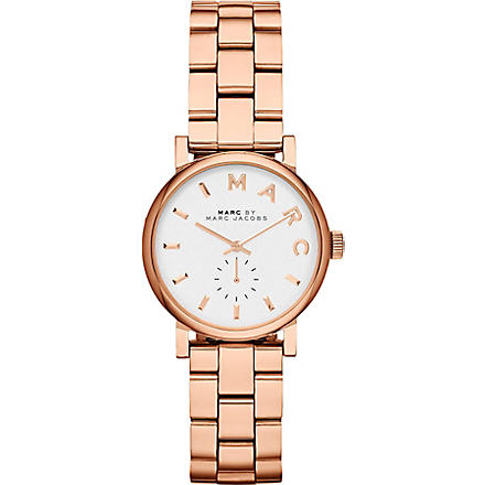 MARC BY MARC JACOBS MBM3248 Baker Mini rose gold-toned stainless steel watch 2.8cm (White