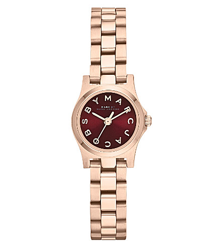MARC BY MARC JACOBS MBM3256 Henry Dinky mini rose gold-toned watch (Red