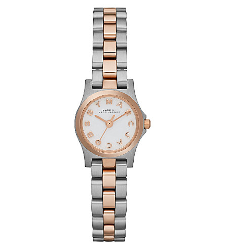 MARC BY MARC JACOBS MBM3261 Henry Dinky mini two-tone watch 2.1cm (White
