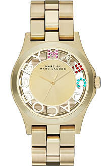 MARC BY MARC JACOBS MBM3263  Henry Skeleton gold-toned stainless steel watch