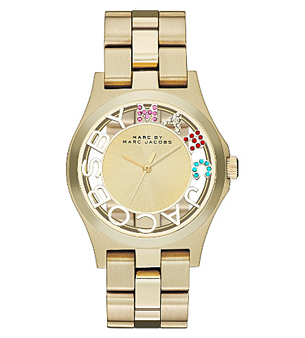 MARC BY MARC JACOBS MBM3263  Henry Skeleton gold-toned stainless steel watch (Gold