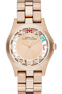 MARC BY MARC JACOBS MBM3264 Henry Skeleton rose gold-toned watch