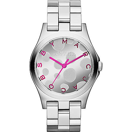 MARC BY MARC JACOBS MBM3266 Henry Glossy stainless steel watch (Silver