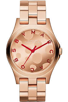 MARC BY MARC JACOBS MBM3268 Henry Glossy rose gold-toned watch
