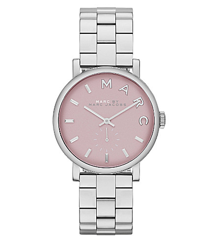 MARC BY MARC JACOBS MBM3283 Baker mini stainless steel watch 2.8cm (Pink