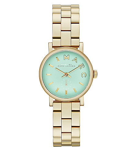 MARC BY MARC JACOBS MBM3284 Baker mini stainless steel watch 2.8cm (Green