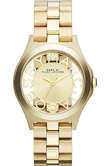MARC BY MARC JACOBS MBM3292 Henry gold-toned stainless steel watch