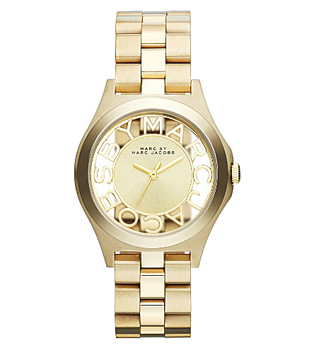 MARC BY MARC JACOBS MBM3292 Henry gold-toned stainless steel watch (Gold