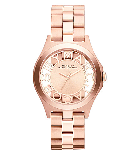 MARC JACOBS MBM3293 Henry rose gold-toned stainless steel watch (Rose+gold