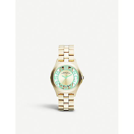 MARC BY MARC JACOBS MBM3295 Henry skeleton watch 3.4cm (Gold