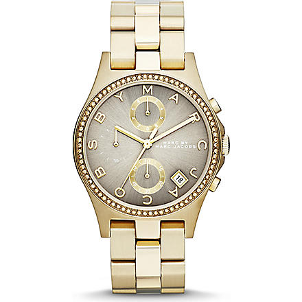 MARC BY MARC JACOBS MBM3298 gold-toned watch (Grey