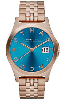 MARC BY MARC JACOBS MBM3318 The Slim rose gold-toned PVD watch