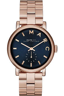 MARC BY MARC JACOBS MBM3330 Baker rose gold-toned PVD watch
