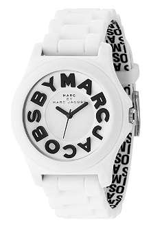 MARC BY MARC JACOBS White unisex logo watch
