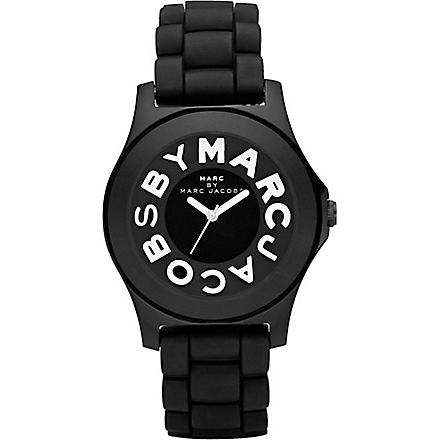 MARC BY MARC JACOBS MBM4006 unisex logo watch (Black