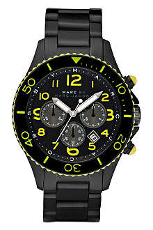 MARC BY MARC JACOBS MBM5026 Rock Diver carbon chronograph watch