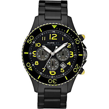 MARC BY MARC JACOBS MBM5026 Rock Diver carbon chronograph watch (Black