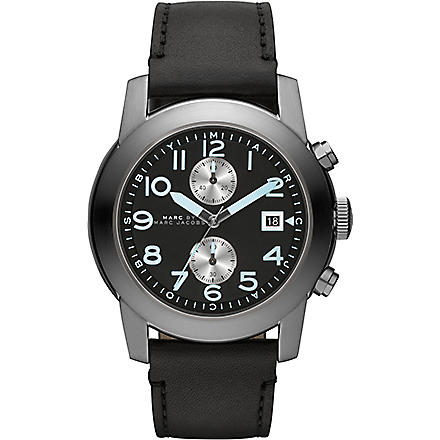 MARC BY MARC JACOBS MBM5054 Larry black leather watch (Black