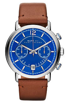 MARC BY MARC JACOBS MBM5066 Fergus stainless steel and leather watch