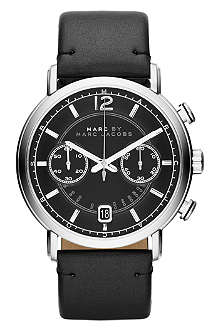 MARC BY MARC JACOBS MBM5074 Fergus stainless steel and leather watch