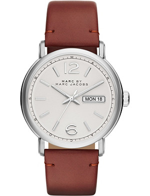 MARC BY MARC JACOBS Mbm5080 stainless steel and leather fergus watch