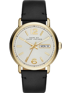 MARC BY MARC JACOBS Mbm5081 stainless steel and leather fergus watch