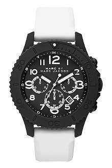 MARC BY MARC JACOBS MBM5525 Metal Rock Chrono matte black and white watch