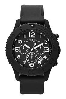 MARC BY MARC JACOBS MBM5528 Metal Rock Chrono matte black watch
