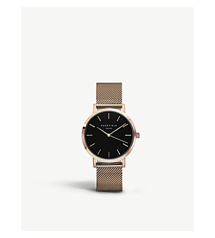 ROSEFIELD MBR-M45 Mercer PVD rose gold-plated watch