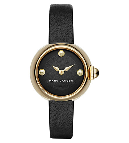 MARC JACOBS MJ1432 courtney stainless steel and leather watch