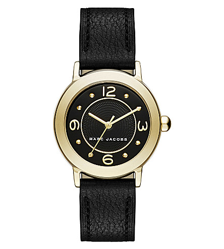 MARC JACOBS MJ1475 stainless steel quartz leather strap watch