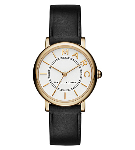 MARC JACOBS MJ1537 Roxy stainless steel and leather watch