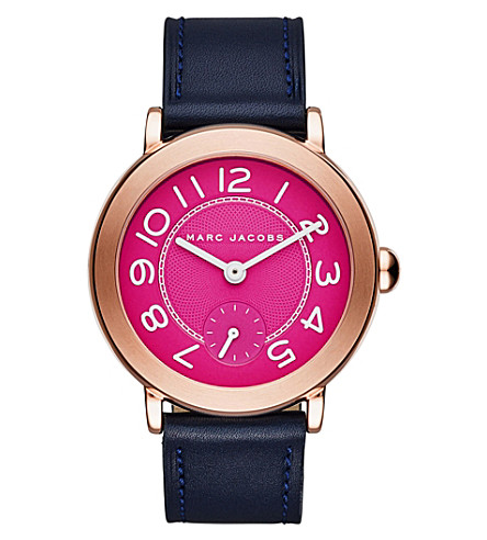 MARC JACOBS Riley rose-gold watch