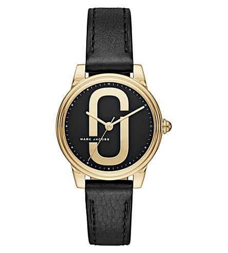 MARC JACOBS MJ1578 Corie stainless steel quartz leather strap watch
