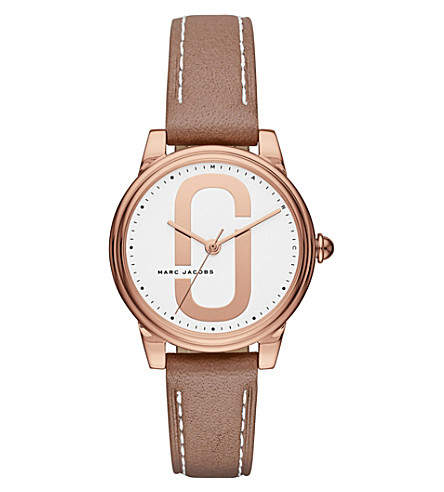 MARC JACOBS MJ1579 Corie stainless steel quartz leather strap watch