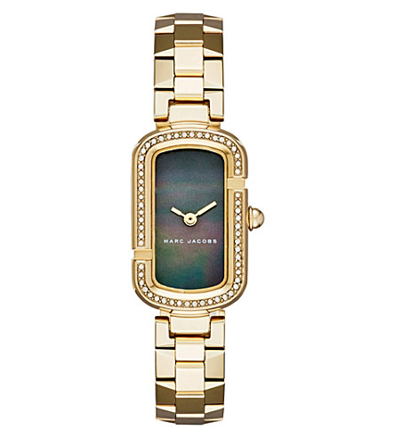 MARC JACOBS Jacobs jewel-encrusted gold watch