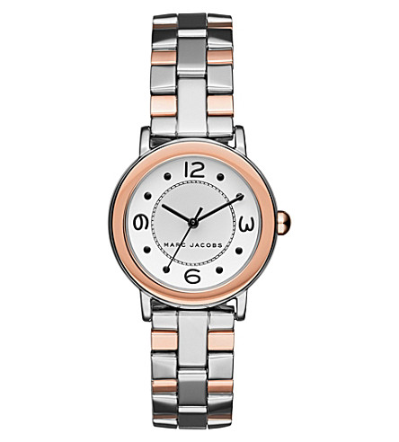 MARC JACOBS Riley two-tone silver and rose-gold watch