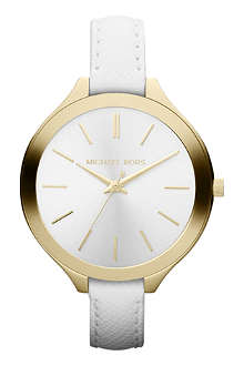 MICHAEL KORS Mk2273 gold-plated and leather watch