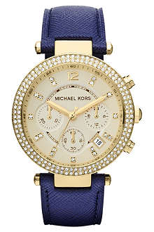 MICHAEL KORS Mk2280 gold-plated and leather chronograph watch