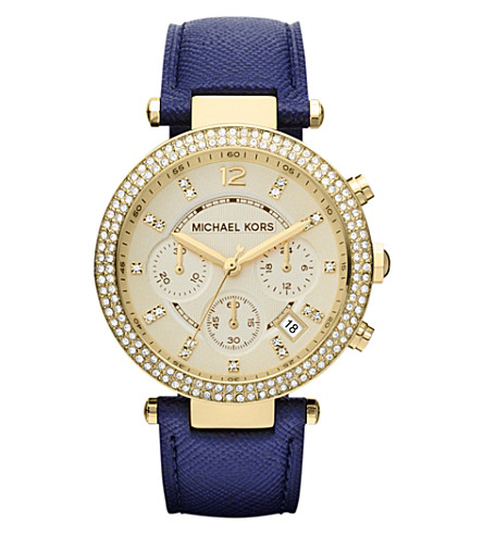MICHAEL KORS MK2280 Parker gold-plated and leather chronograph watch (Gold