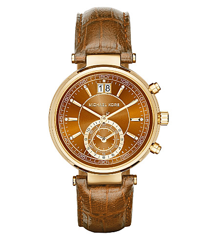 MICHAEL KORS MK2424 Sawyer gold-plated stainless steel watch (Brown