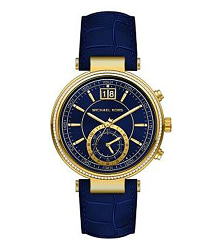 MICHAEL KORS MK2425 Sawyer gold-plated stainless steel watch (Blue