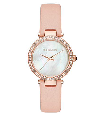 MICHAEL KORS Michael Kors Mini Parker Rose Gold Tone Strap Watch