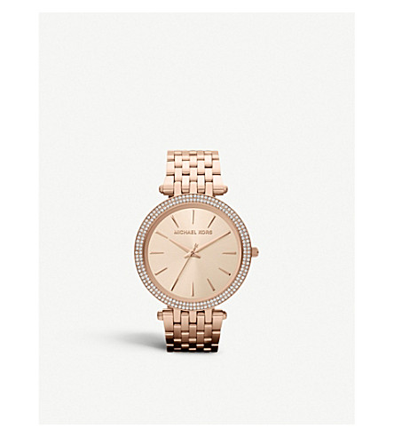 MICHAEL KORS MK3192 Darci rose gold-toned stainless steel watch (Rose+gold